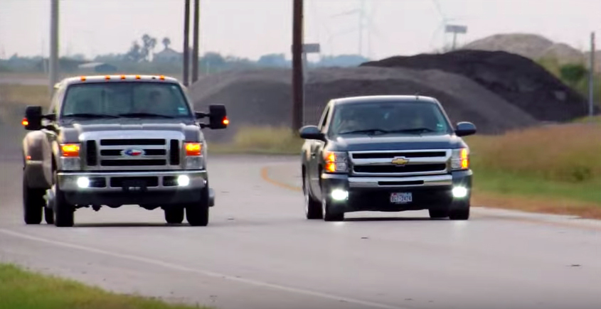 F-350 Dually takes on cammed Silverado