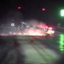 Flaming Mustang crashes, nearly burns at the strip