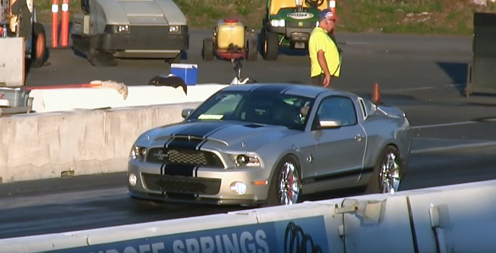 Watch this Shelby Super Snake take down a Hellcat Charger