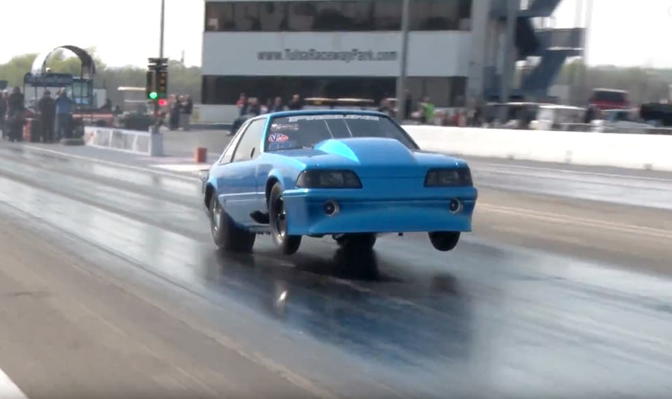 Twin-turbo Mustang hits 200mph in the eighth mile