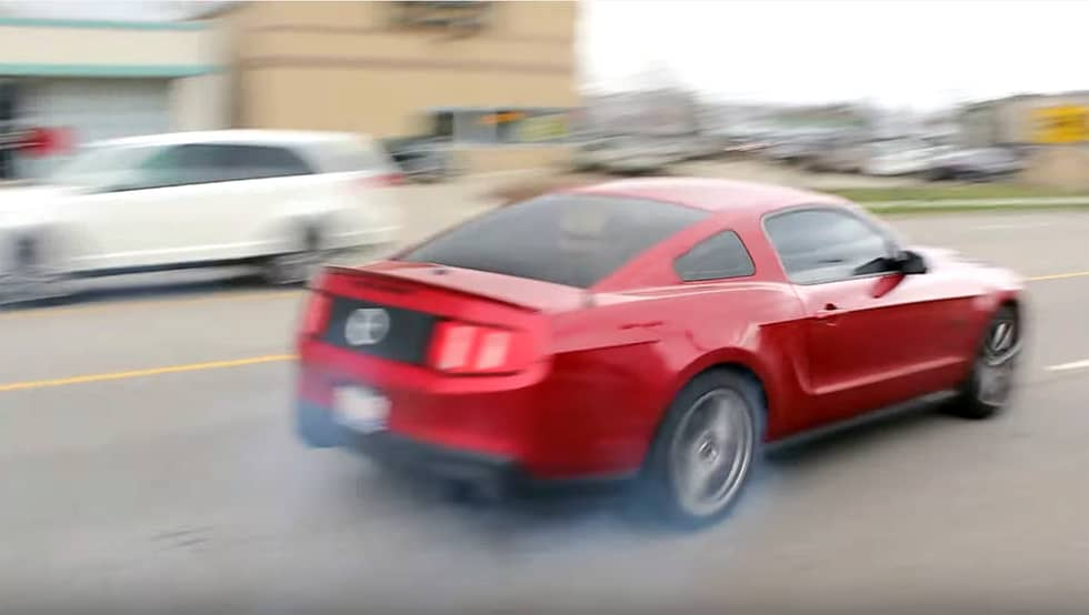 Mustang shows off at Cars and Coffee, predictable crash ensues