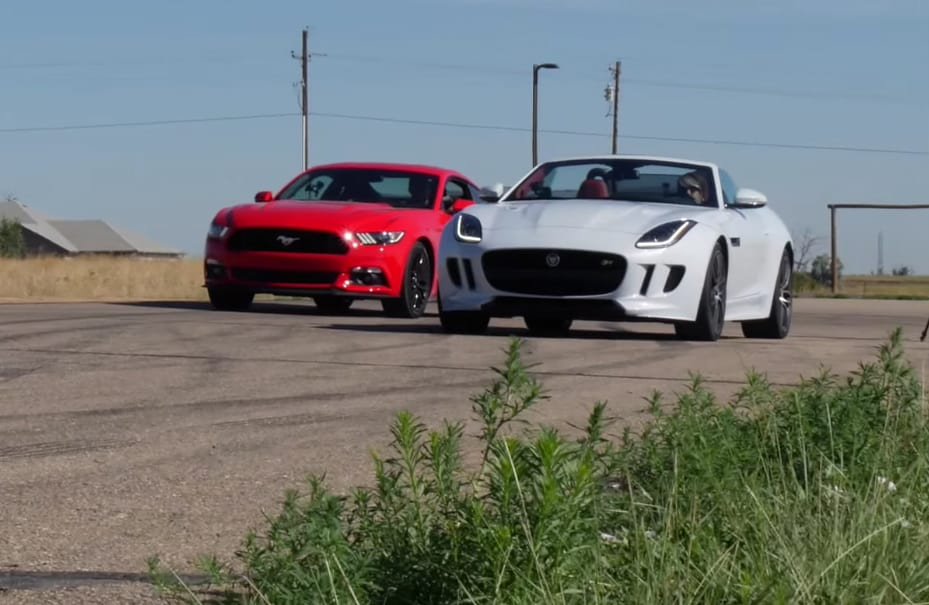 Can a Ford Mustang Outrun a Jaguar F-Type?