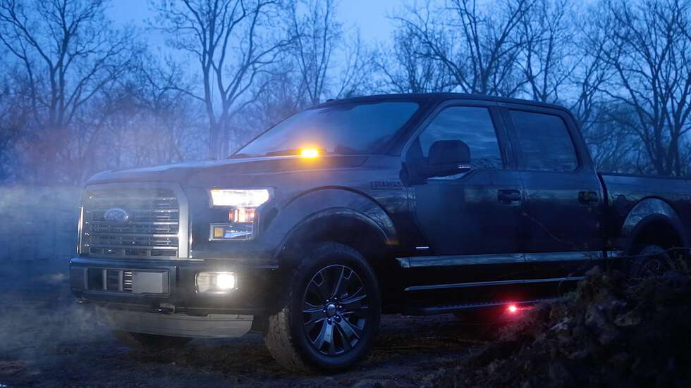 Darkness No More: Ford Shows Off Factory-installed Strobe Warning LED light kit