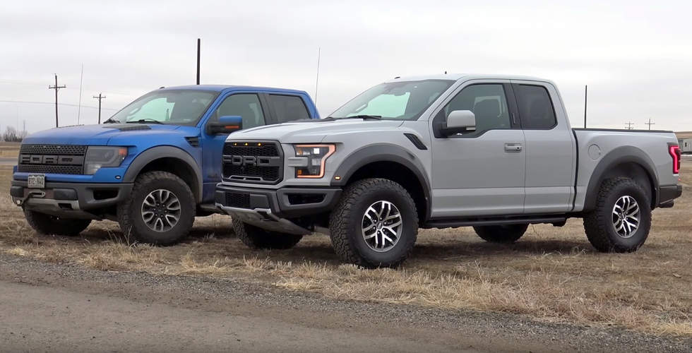 2017 Ford F-150 Raptor smokes predecessor in drag race