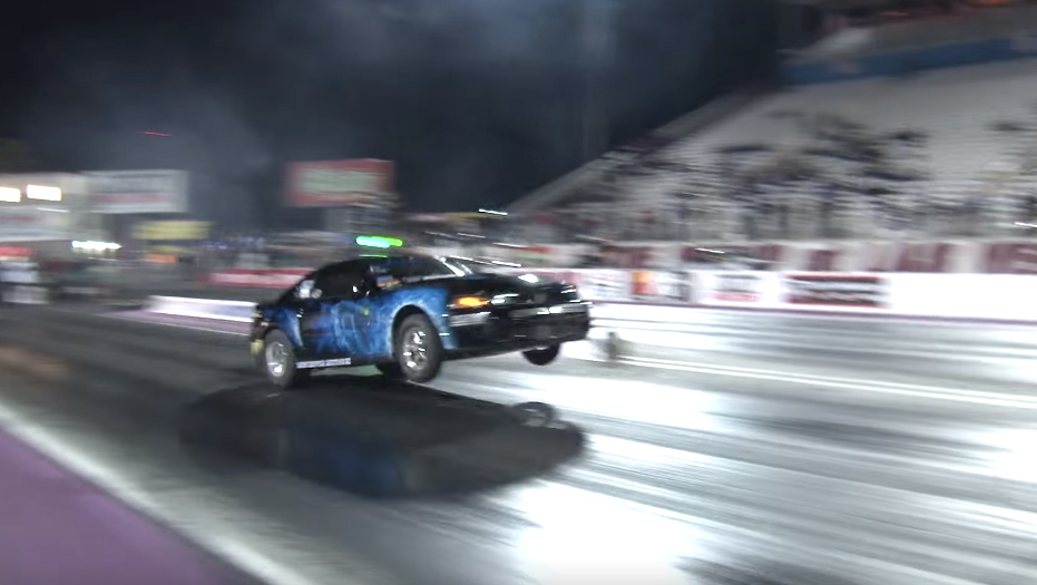 Watch an incredible drag Mustang nearly crash