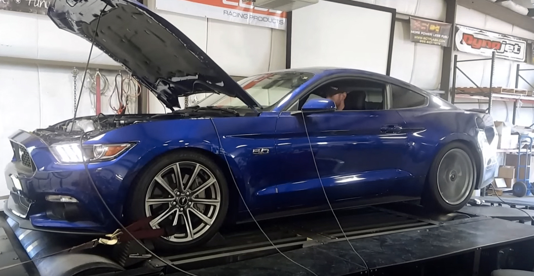 Record-setting Mustang gets on the dyno