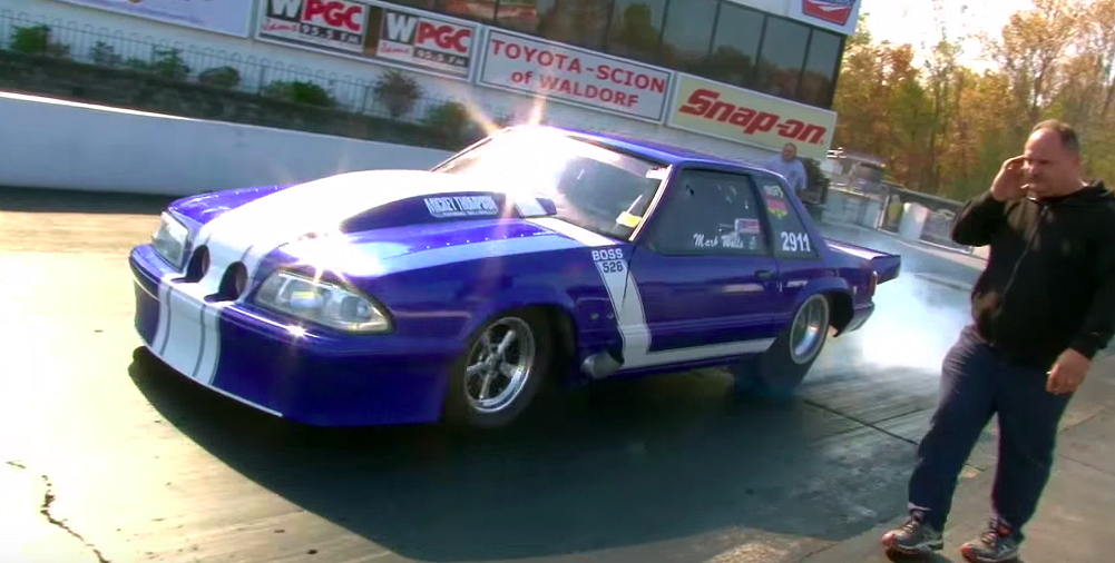 Twin-turbo Outlaw Mustang sets fire to the strip
