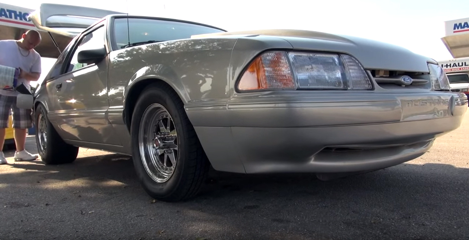NOS-Firing Fox Mustang faces tuned Nissan GT-R