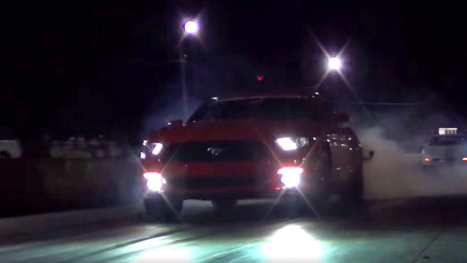 Brand new Mustangs get tested on the strip