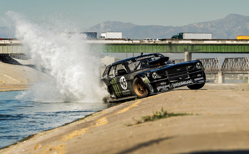 Ken Block destroys LA from behind the wheel of an 845-horsepower Mustang