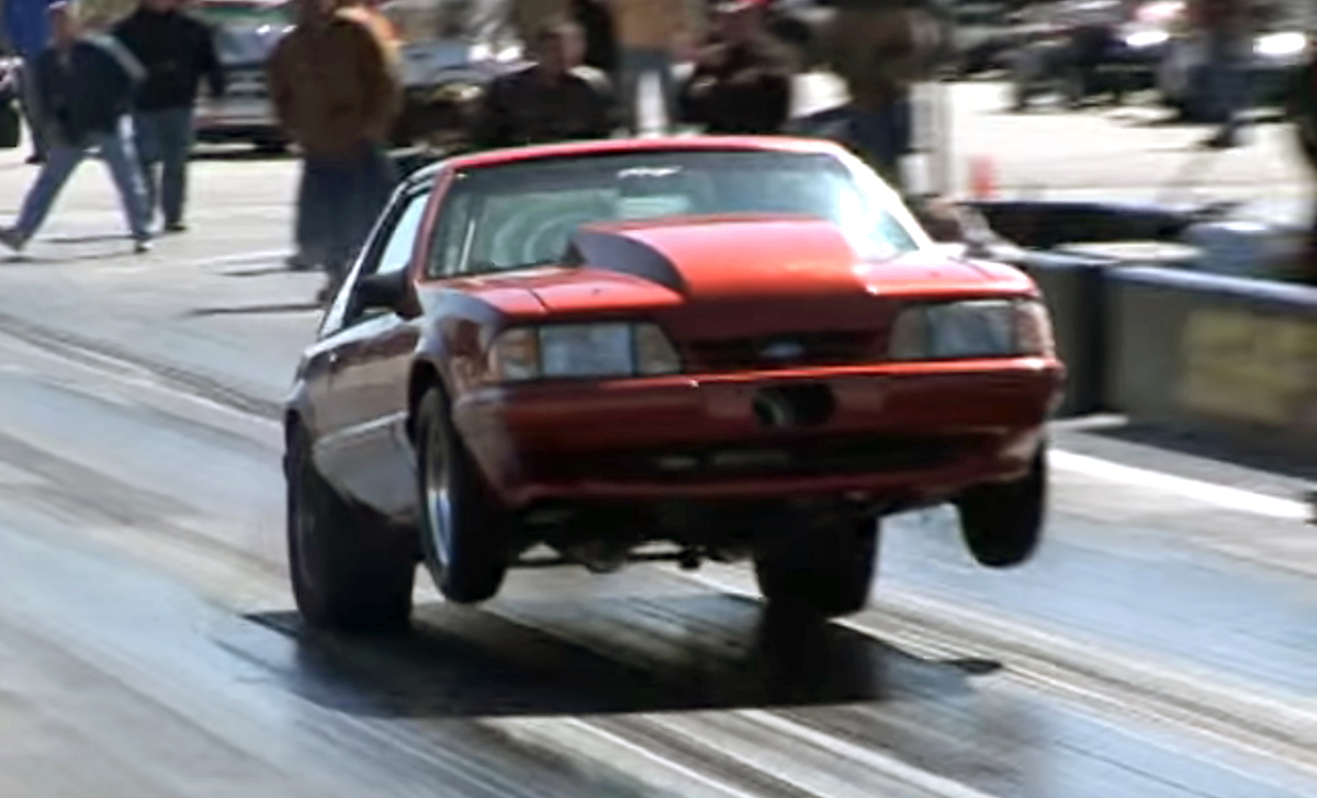 Ford Mustang wheelies are always fun to watch