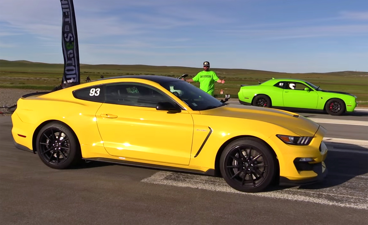 Battle of the Brands: Shelby GT350 races Dodge Challenger Hellcat