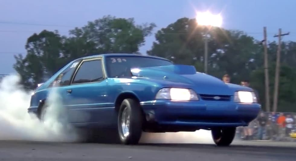 Nitrous Fox-Body Mustangs have a grudge on the dragstrip