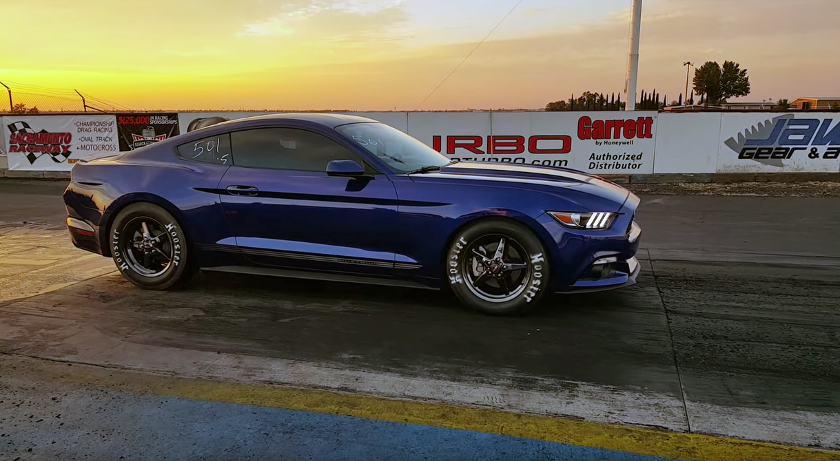 Bet you didn't think an EcoBoost Mustang could go this fast