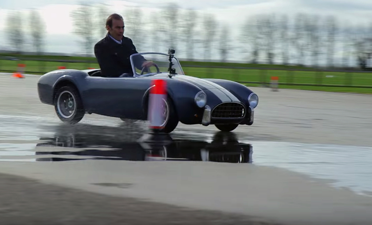 Racing legends go for a spin in half-size mini Cobras