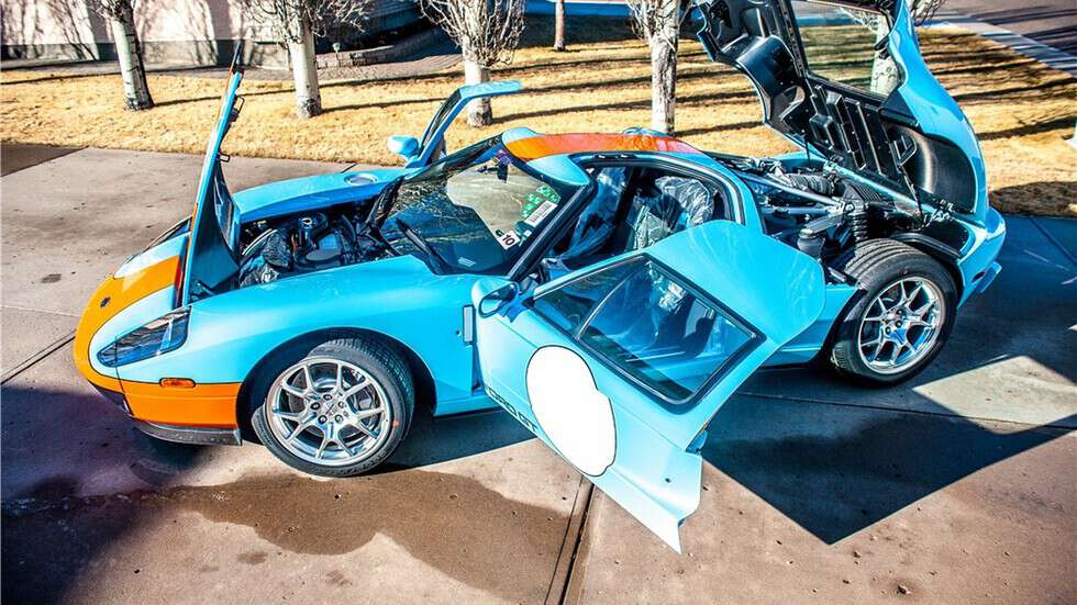 Mint Ford GT Heritage Edition goes up for a very expensive auction