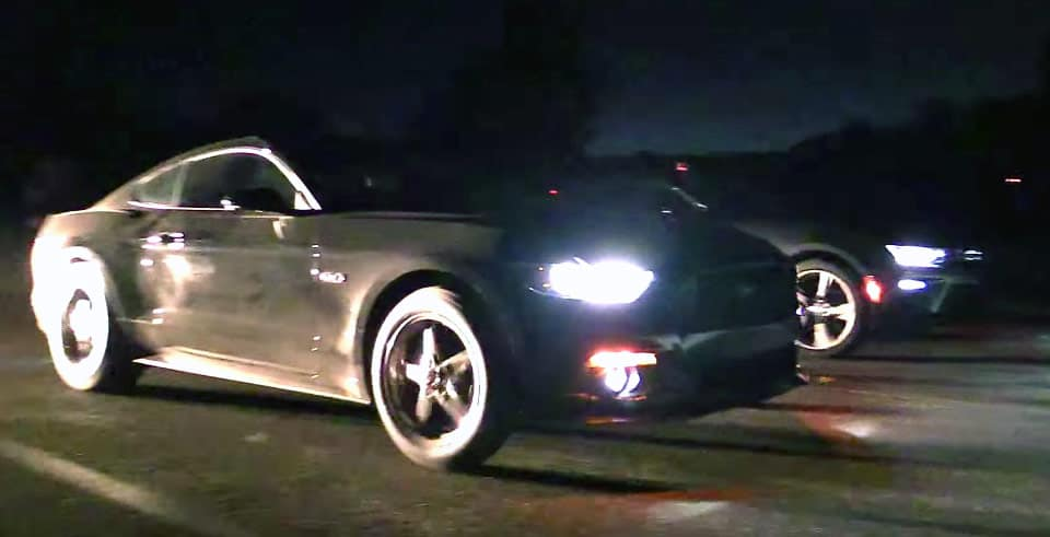 Stock Mustang takes out tuned Camaro!