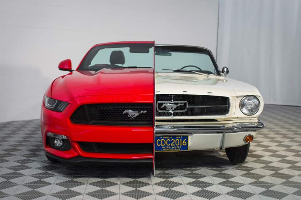 Ford Welds a Pair of Mustangs Together